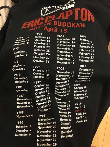 エリック・クラプトン来日デイリーTシャツ02