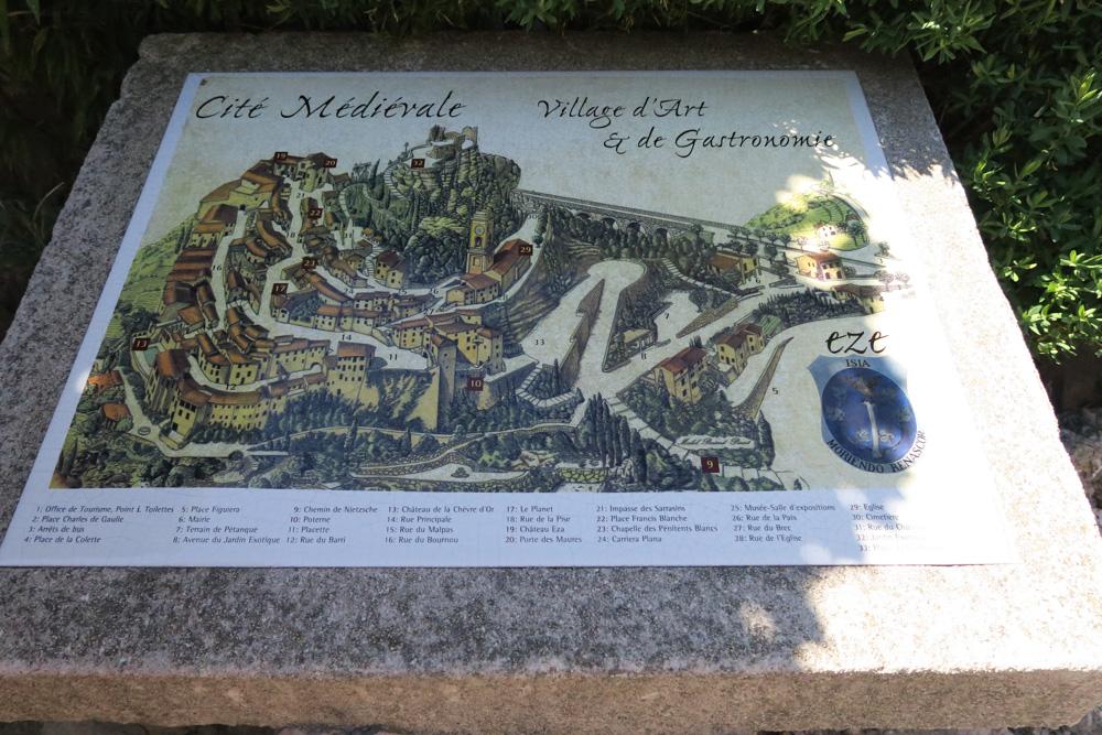エズ村の地図