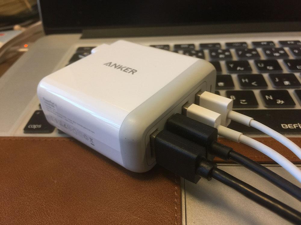 Anker PowerPort 4 (40W 4ポートUSB急速充電器)