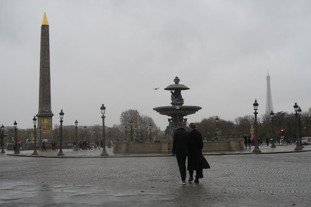コンコルド広場で見えたエッフェル塔