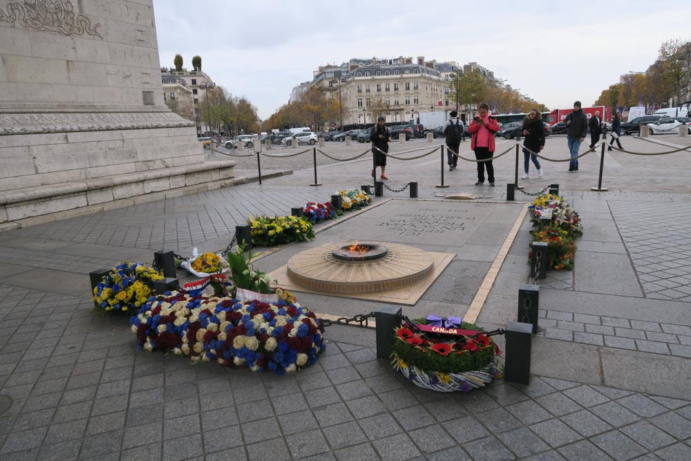 凱旋門 第一次世界大戦で亡くなった兵士のモニュメント