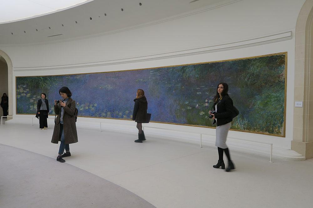 モネの睡蓮01 オランジュリー美術館
