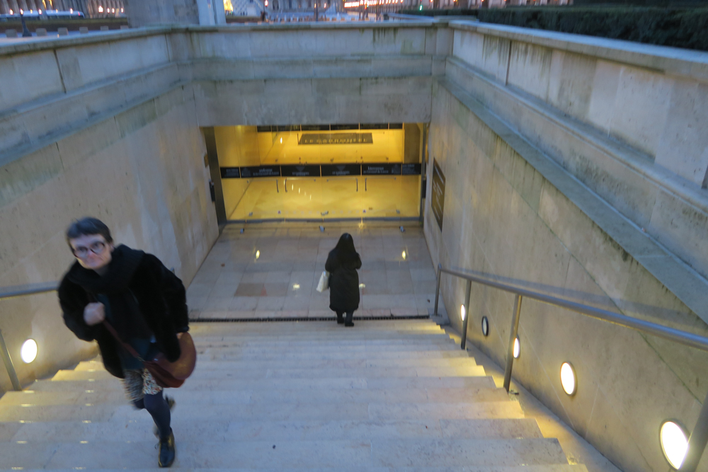 カルーゼル凱旋門 階段