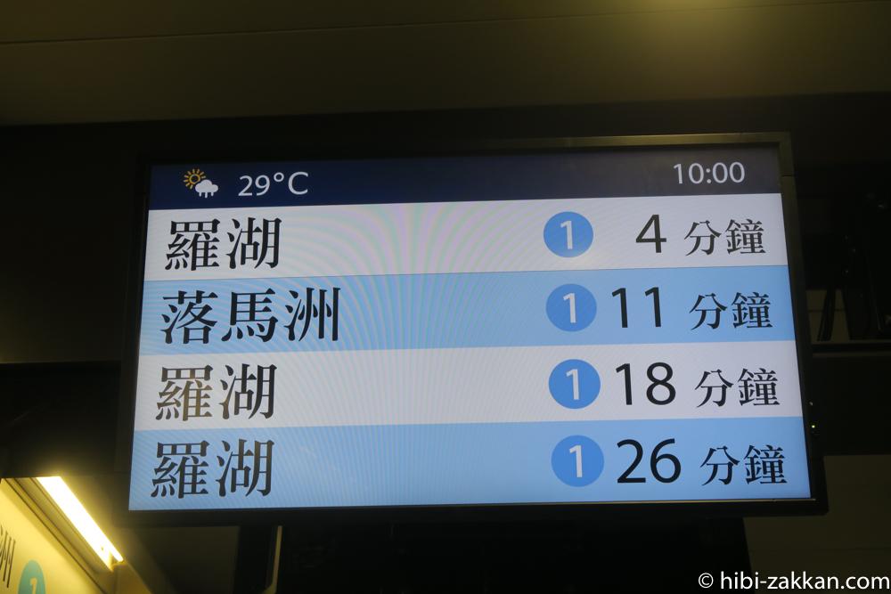 2019年6月香港旅行 地下鉄01