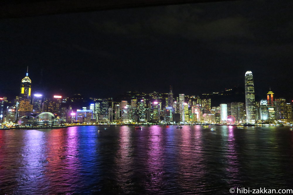 2019年6月香港旅行シンフォニー・オブ・ライツ01