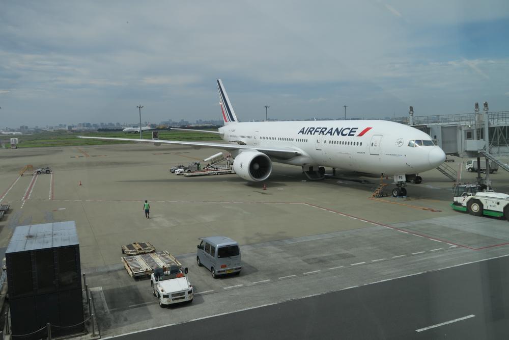 エールフランスの飛行機