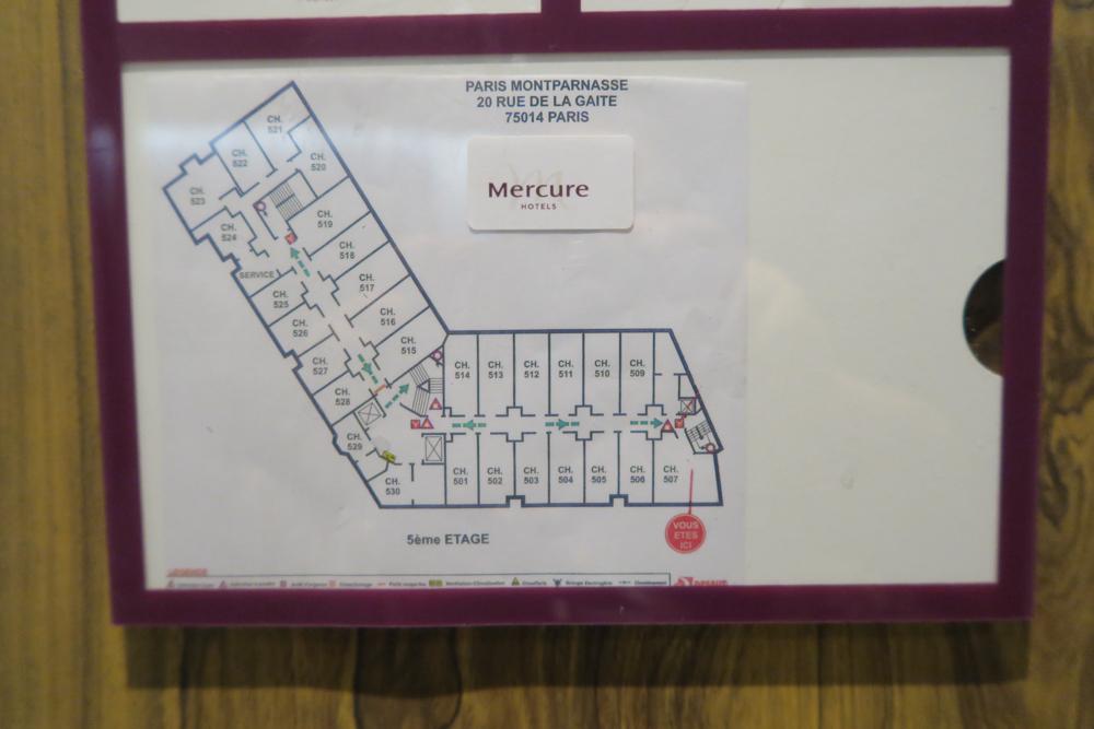 メルキュール パリ ガル モンパルナス(Mercure Paris Gare Montparnasse)位置図