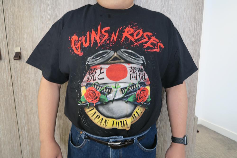 ガンズ・アンド・ローゼズのTシャツ01