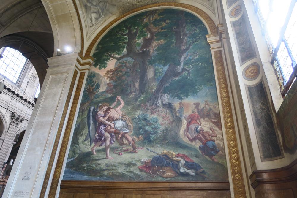 サン・シュルピス教会 ドラクロア ヤコブと天使の闘い