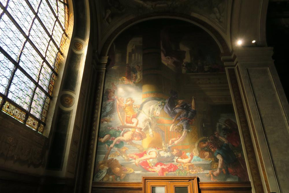 サン・シュルピス教会 ドラクロア 神殿を追われるヘリオドロス