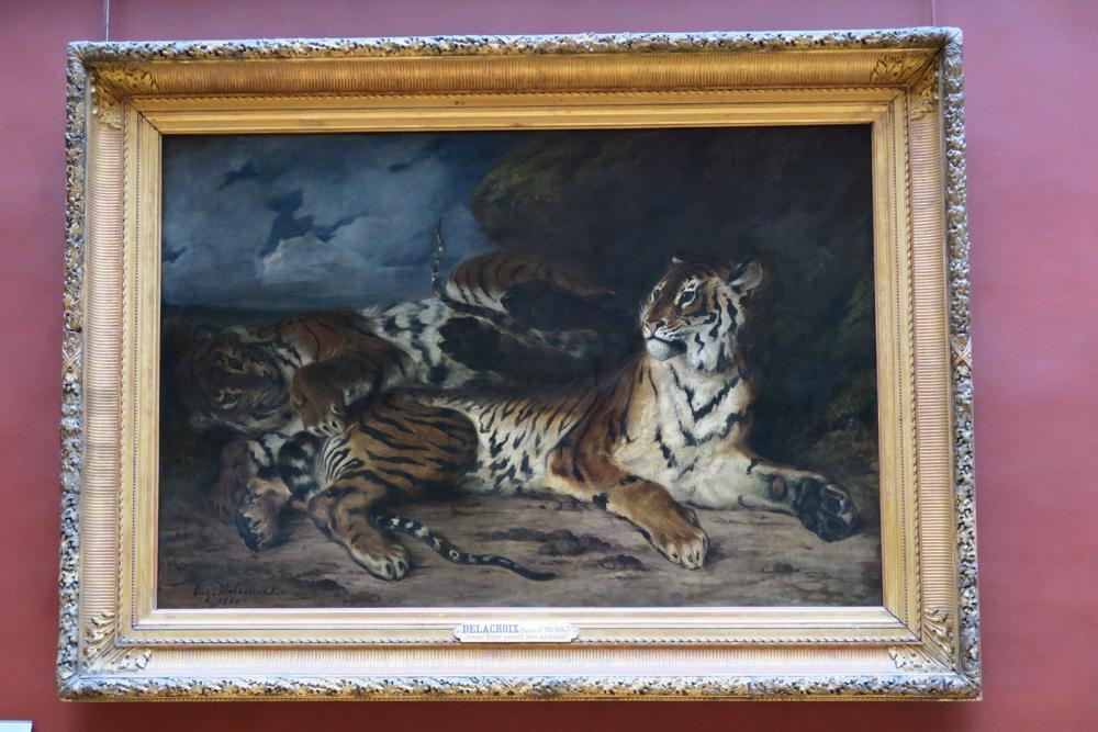 ルーブル美術館 ドラクロワ 母虎と戯れる子虎