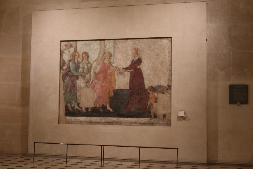 ルーブル美術館 若い婦人に贈り物を捧げるヴィーナスと三美神