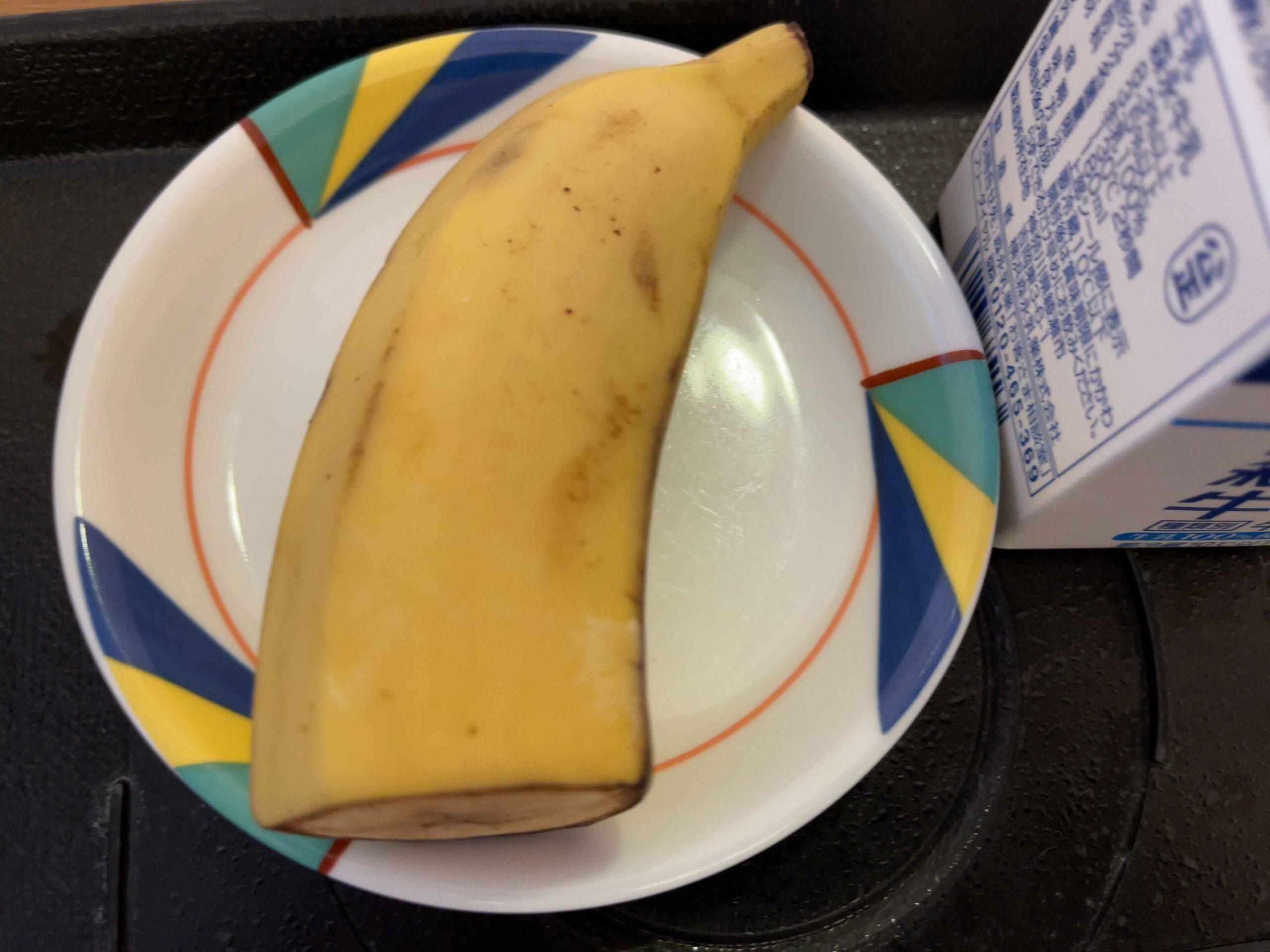 2021年2月18日朝食 バナナ