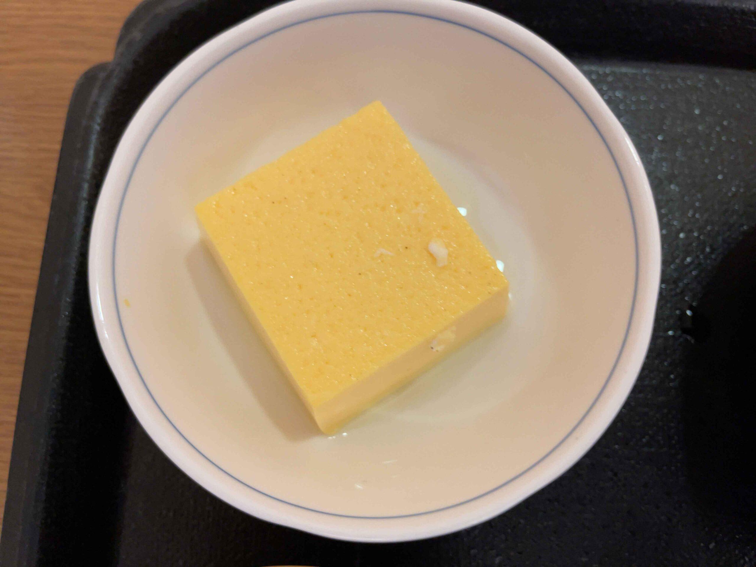 2021年2月18日夕飯 卵豆腐