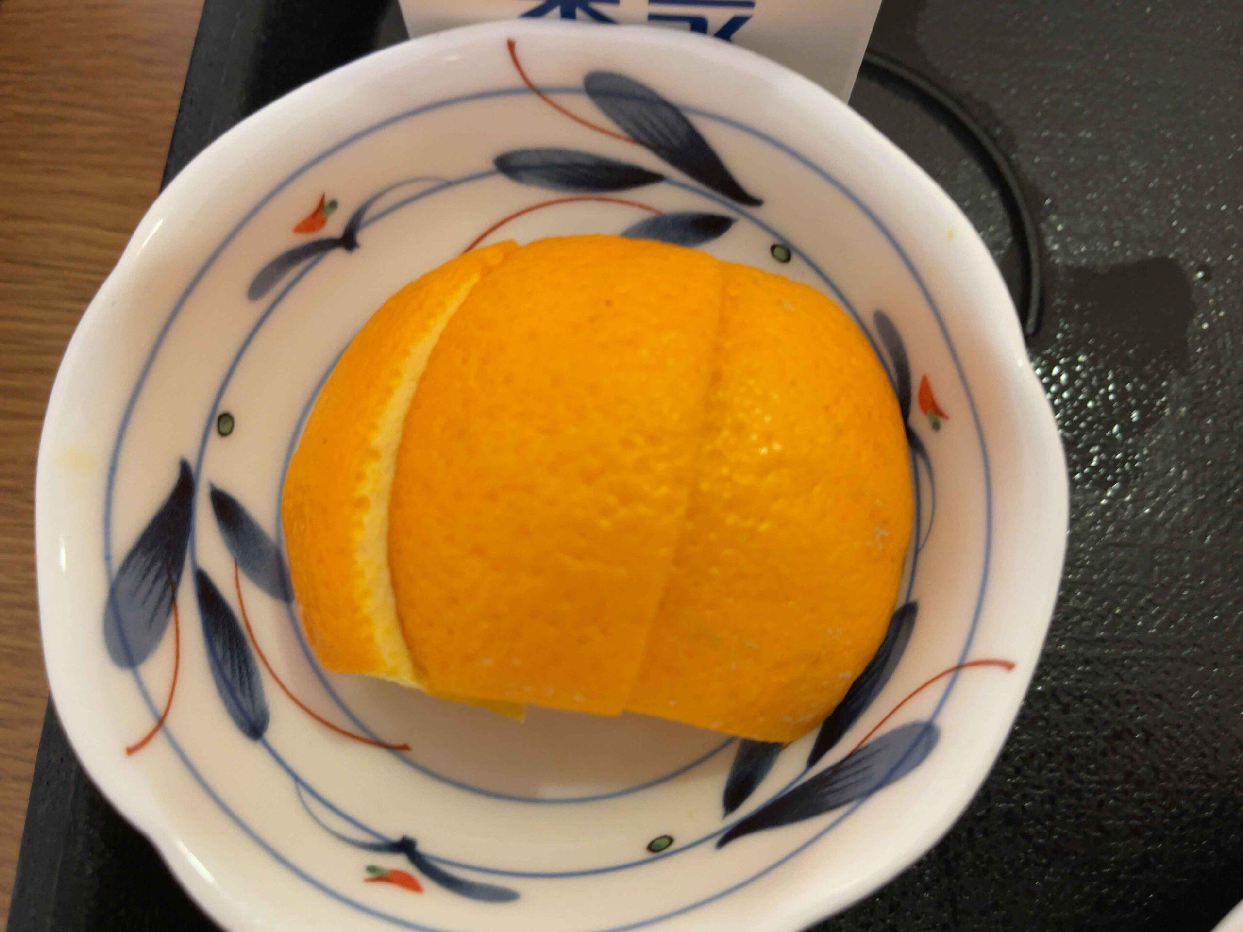 2021年2月18日朝食 オレンジ