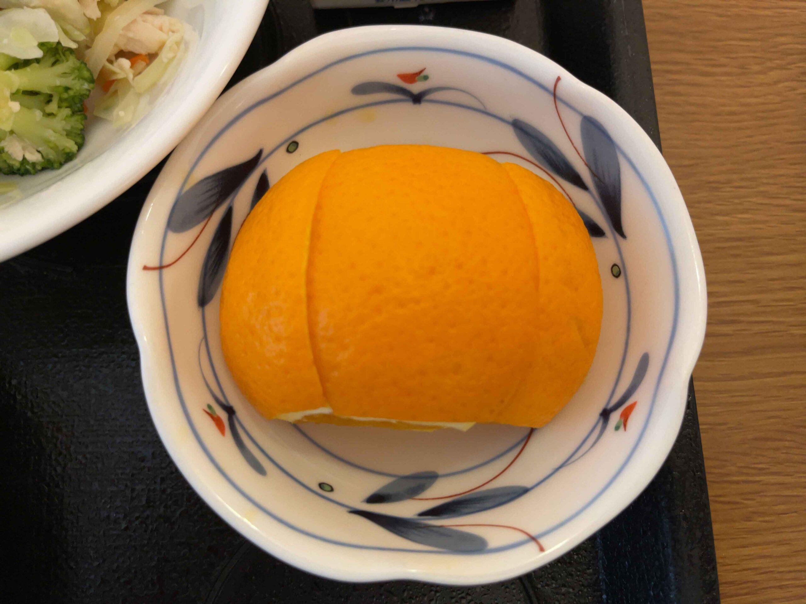 2021年2月22日朝食 オレンジ