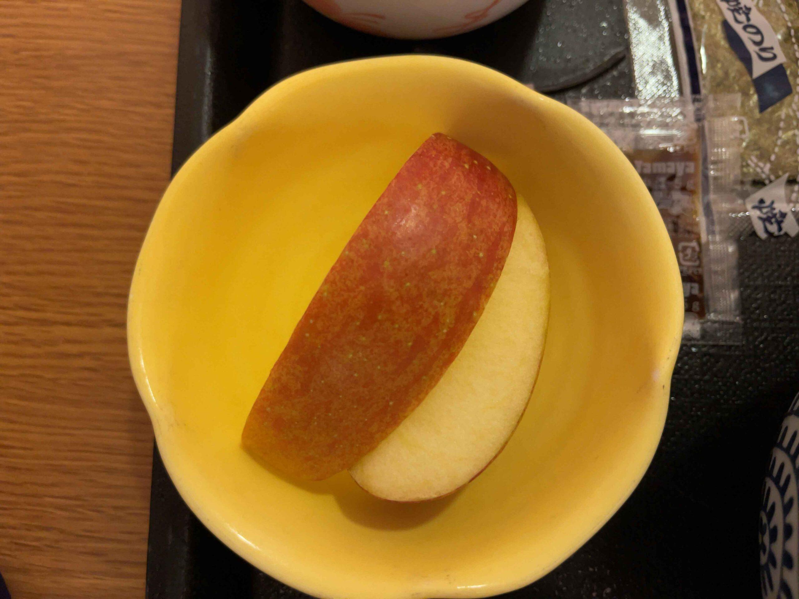 2021年2月22日夕飯 りんご